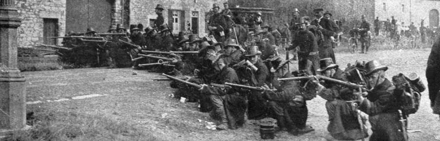 Belgian Troops try Desperatly to Stop the German Advance