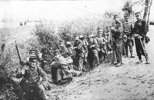 French soldiers await orders