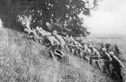 Germans Advance in the Frontiers