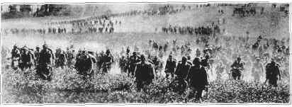 Germans march near Liege