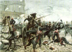 Hessian Troops Near Chambord by Richard Knotel