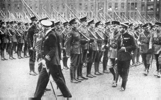 King George inspects the BEF before thay leave for France