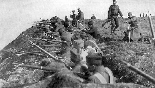 Serbian Troops on the Danube