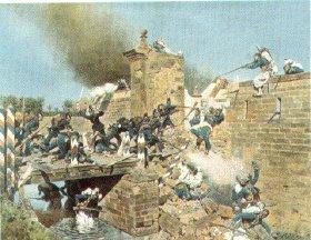 The Landau Gate being Taken by assault